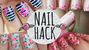 nail hack cheat your way to perfect roses youtube