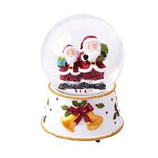 snowflake table top decorations lightahead christmas snow water globe with falling snowflakes music