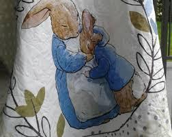 rabbit crib bedding rabbit quilt etsy