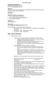 Sample Resume For Ccna Certified Itil Certified Resume Free Resume Example And Writing Download