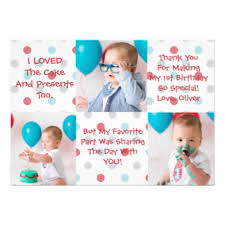 1st birthday thank you invitations u0026 announcements zazzle