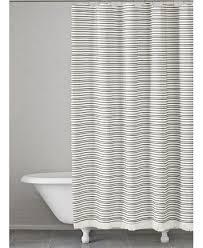 Kassatex Shower Curtain Kassatex Halsey Cotton Stripe Shower Curtain Shower Curtains