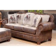 Rustic Leather Living Room Furniture Rustic Sofas Wayfair Big Buck Sofa Loversiq