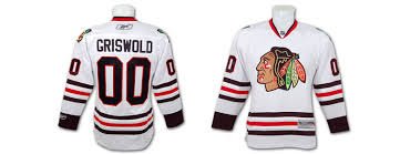 clark griswold chicago blackhawks jersey from christmas vacation