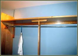 center closet rod support home design ideas