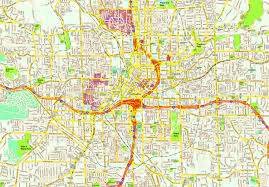 Atlanta Street Map United Illustrator Eps City U0026 Country Maps Part 11
