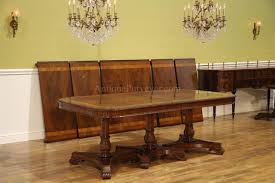 Regency Dining Table And Chairs Regency Style Triple Pedestal Dining Table Opens To 16 Feet