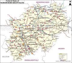 map germany map of nordrhein westfalen nordrhein westfalen map germany