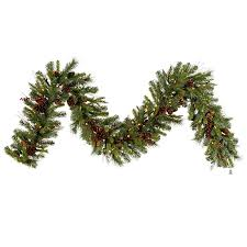 christmas garland with lights shop artificial christmas garland at lowes