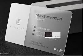 Sales Business Card Online Buy Wholesale Transparent Business Cards Printing From