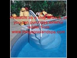 wedding cake pool steps wedding cake above ground swimming pool step ladder
