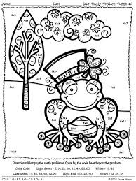 color by math multiplication coloring pages 772 winter