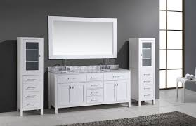 White Linen Cabinets For Bathroom Bathroom Vanity With Linen Tower Corner Linen Cabinet With Her