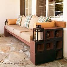 How To Build Patio Bench Seating How To Make A Bench From Cinder Blocks 10 Amazing Ideas
