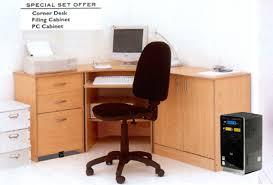 Corner Desk Beech Home Office 3 Corner Computer Office Beech M2030