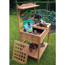 potting tables for sale astonica wooden potting bench at ace hardware