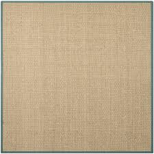 decor nice remarkable square brown sisal rug ikea with blue