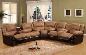 black leather reclining sectional sofa sets design ideas