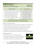 Sample Resume Public Relations by Samples W P Consulting U0026 Associates W P Consulting U0026 Associates