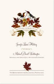 fall wedding programs fall wedding programs wedding ceremony programs wedding church