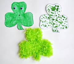 simple shamrock crafts for st patrick u0027s day play cbc parents