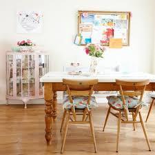 dining room furnished with wooden vintage furniture including