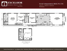 schult floor plans schult independence 8016 79 1 excelsior homes west inc