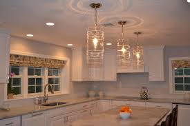 Glass Kitchen Pendant Lights Kitchen Pendant Lights Over Island Luxury In Clear Glass Light