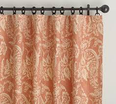 Terracotta Blackout Curtains Alessandra Floral Drape Terracotta Pottery Barn