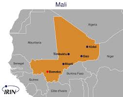 Mali Africa Map by Irin Trouble In The Heart Of Mali