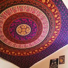 mandala tapestry hippie wall hanging bohemian bedcover hippie
