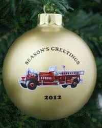 firefighter w hydrant ornament personalized firefighter