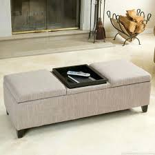 Ottomans With Trays Storage Ottoman With Reversible Tray Top Ottomans Contemporary