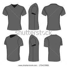 all views mens black short sleeve stock vector 138367946