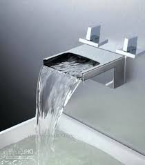 reston wall mount waterfall tub faucet brushed nickel ebay wall mount waterfall tub faucet single handle wall mount waterfall