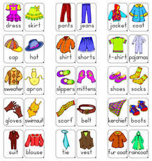 memory clothes 30 colored clothes flashcards for learners in pdf format