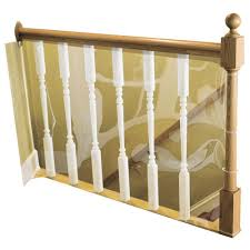 cardinal gates 15 ft l x 36 in h indoor banister shield for pet h indoor banister shield for pet safety ks 15p the home depot