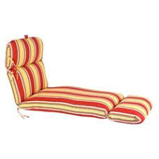 outdoor rattan sun lounger cushion lounge cushion red khaki stripe