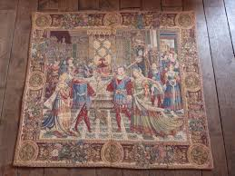 vintage french tapestry wall hanging art decor 1900s chateau wall