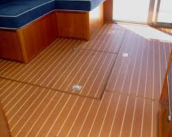 interior teak vinyl flooring on display at fort lauderdale