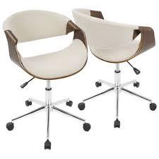 mid century modern desk chair curvo mid century modern office chair by lumisource walmart canada
