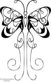 butterfly tattoo flash black outline female leg small design