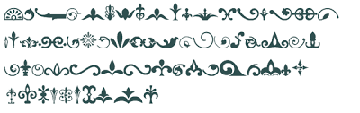 ornaments font free truetype