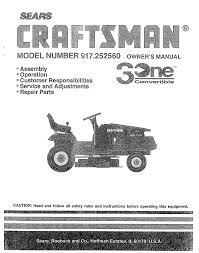 craftsman lawn mower 917 252560 user guide manualsonline com