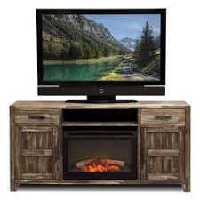 Fireplaces Tv Stands by Driftwood Tv Stand With Fireplace Insert For Tvs Up To 60