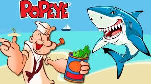 popeye the sailor man shark attack hd 1080p funny cartoons