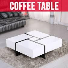 modern designer coffee tables new design modern designer high gloss white coffee table 4 hidden