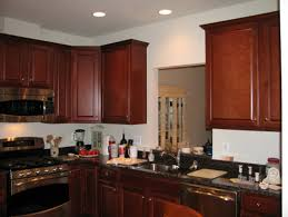 Kitchen With Red Appliances - awesome kitchens with brown cabinets kitchen druker us