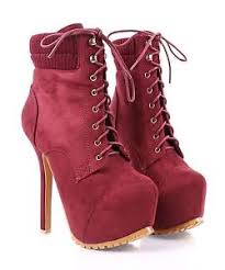 womens high heel boots size 9 wine nn faux suede lace up stilettos mid calf womens high heels