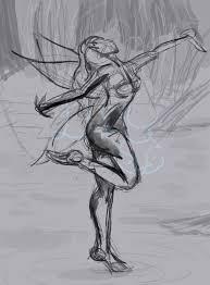 faerie dance sketch by lonesome wolf child on deviantart